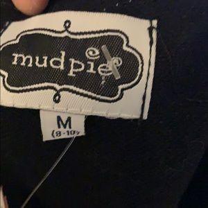Mud Pie size M dress. Black w/ gold embroidery.